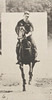 Horse Bouquet galloping, saddled with rider