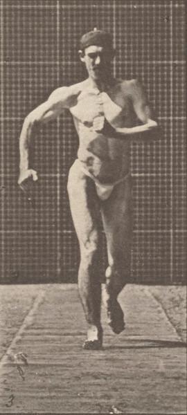 Man in pelvis cloth walking
