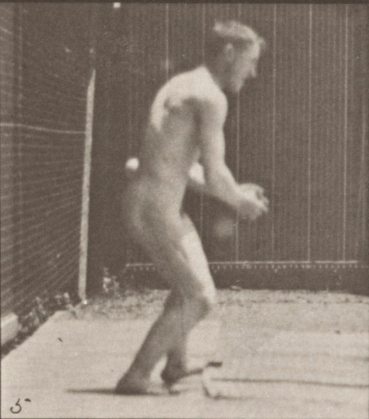 Nude man in a baseball error
