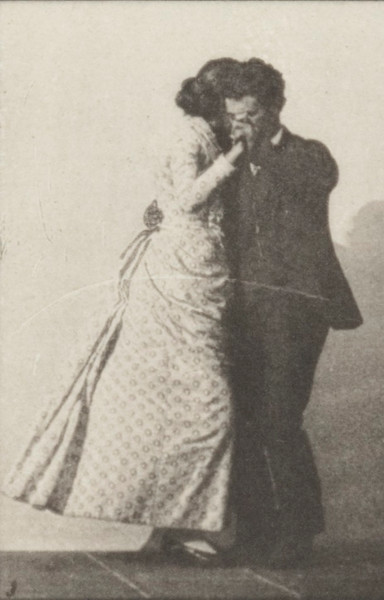 Man and woman dancing a waltz