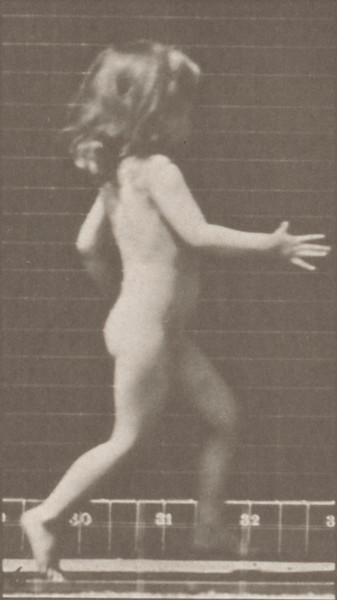Nude child running