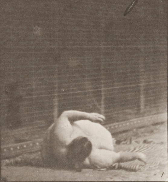 Nude woman arising from the ground