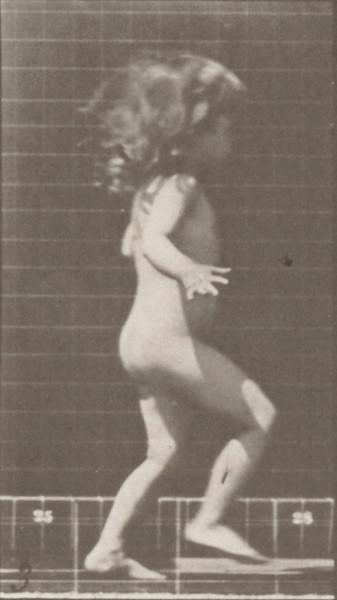 Nude child running