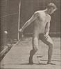 Nude man in a baseball error