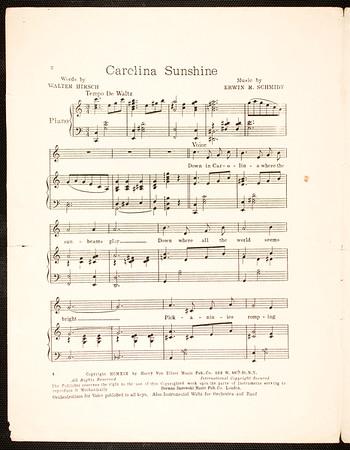 Carolina sunshine: song