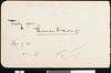 Hans von Bülow, note, 1890 Mar. 27, Boston, Massachusetts, USA,