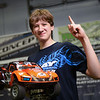 William Piper, 15, of Leominster, poses with his radio controlled 4x4 Short Course truck at this weekend's JConcepts Indoor Summer National Championship at RC Excitement on Sunday where he placed first in his class among some of the top RC drivers in the country.  SENTINEL & ENTERPRISE JEFF PORTER