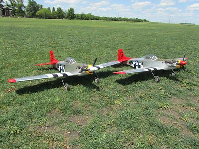 Brian and Ellis' P-51's