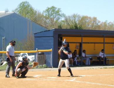 Ashley Kemp at bat.