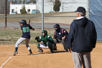 Renee Brown hitting from the right side.