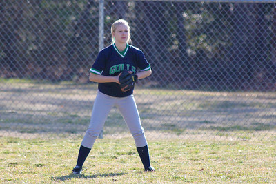 Liesel Schram, in her first softball game.