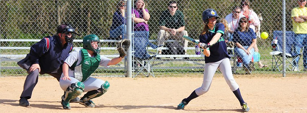 Caitlin battling Cecil College in the first action of 2012.