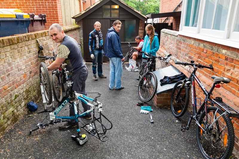 Сборка велосипедов