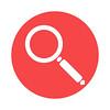 Magnifying loupe icon