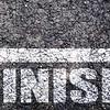 Finish line on asphalt