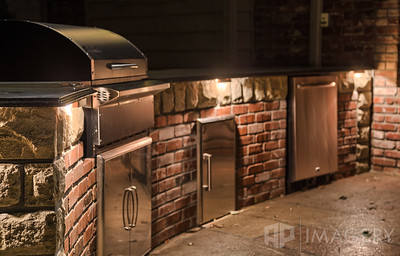 Night Lighting - Outdoor Kitchen