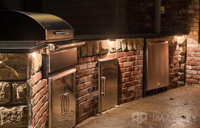 Night Lighting - Outdoor Kitchen