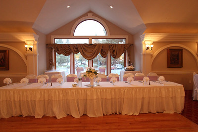 head table and sweetheart table in rear