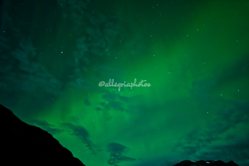 Northern Lights over Geiranger, Norway