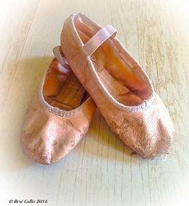 Worn Ballet Slippers