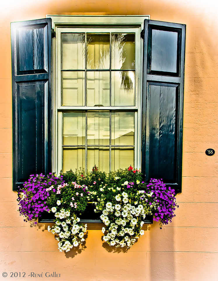 "<center><h2>'The Window at #55 '</h2> Charleston, SC  12""x16"", on Fine Art Paper  or Luster Photo paper (12 mil)  ~open edition~ </center>"