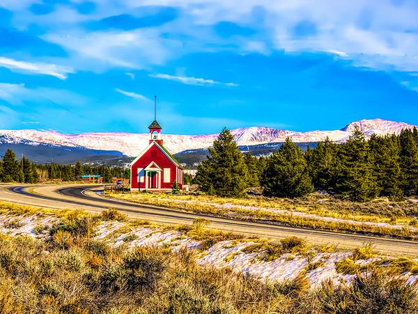Little Red Church, near Leadville CO