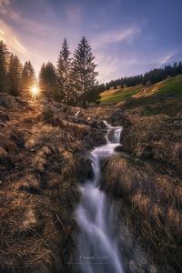 Evening Spring Cascade