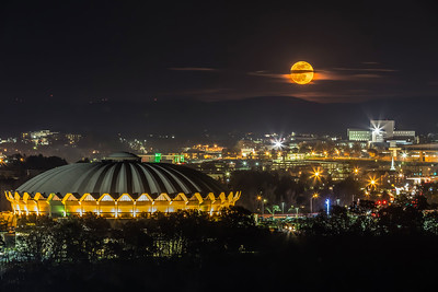 Moonrise over Morgantown, WV - 2