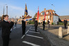 08 NOV 2020 – PICTURED: Chloe Jay, Standard-bearers, and Andy Wells, Wreath laying, Remembrance Sunday, Dovercourt Memorial Cross – Photo Copyright © Maria Fowler 2020