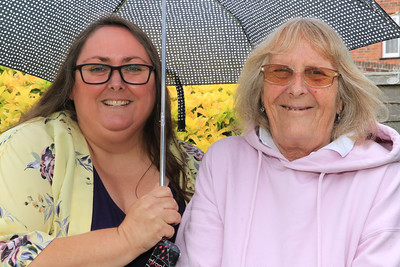 10 JUL 2021 – Pictured: Secret Gardeners Kerry Cable and June Moore - George Street - Harwich Secret Gardens – Photo © Maria Fowler 2021