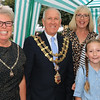 18 SEP 2021 – PICTURED L-R: Cllr. Jo Henderson, Mayoress of Harwich, and Cllr. Ivan Henderson, Mayor of Harwich with Sarah Brown, Maria Barker and Maisy Brown - St. Nicholas Church, Late Summer Fete  – Photo Copyright © Maria Fowler 2021