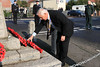 08 NOV 2020 – PICTURED: Andy Fern, President, Rotary Club of Harwich & Dovercourt - Wreath laying, Remembrance Sunday, Dovercourt Memorial Cross – Photo Copyright © Maria Fowler 2020
