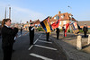 08 NOV 2020 –  PICTURED: Chloe Jay, Standard-bearers, and Andy WellsWreath laying, Remembrance Sunday, Dovercourt Memorial Cross – Photo Copyright © Maria Fowler 2020