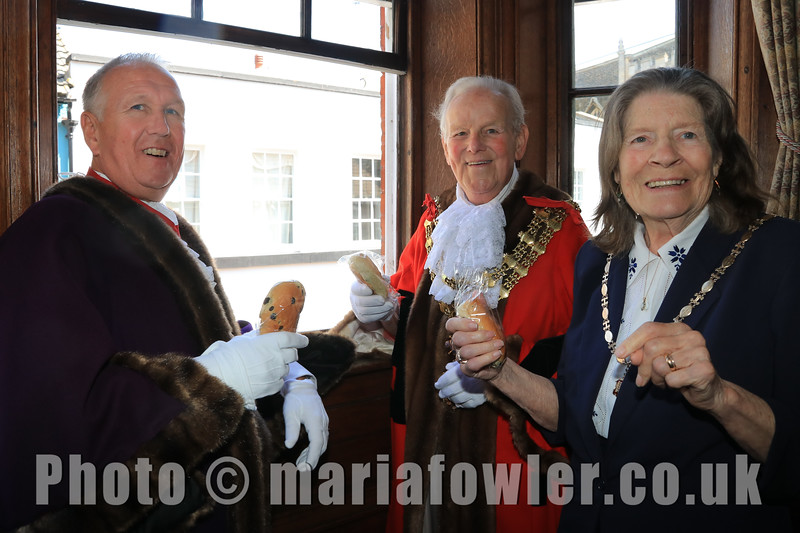 23 MAY 2019 – Pictured L-R: Deputy Mayor Cllr. Ivan Henderson, Mayor of Harwich Cllr. Alan Todd and Mayoress Mrs. Sylvia Todd - Harwich Town Council, Mayor Making – Photo Copyright © Maria Fowler 2019