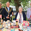 18 SEP 2021 – PICTURED L-R: Cllr. Jo Henderson, Mayoress of Harwich, Cllr. Ivan Henderson, Mayor of Harwich, Enid Godfrey (Trefoil Guild) and Eve Cranfield (Trefoil Guild) - St. Nicholas Church, Late Summer Fete  – Photo Copyright © Maria Fowler 2021