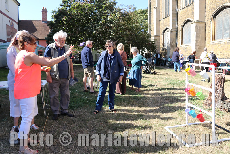 21 SEP 2019 - PICTURED: Rosie Wilsonham 'Bean Bags & Buckets' - St. Nicholas' Church Late Summer Fete – Photo Copyright © Maria Fowler 2019