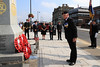 03 SEP 2021 – PICTURED: Andy Wells, Royal British Legion Harwich Branch - Merchant Navy Day, wreath laying – The Quay, Harwich – Photo Copyright © Maria Fowler 2021