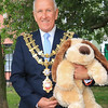 18 SEP 2021 – PICTURED L-R: 'Name the Dog' - Cllr. Ivan Henderson, Mayor of Harwich - St. Nicholas Church, Late Summer Fete  – Photo Copyright © Maria Fowler 2021