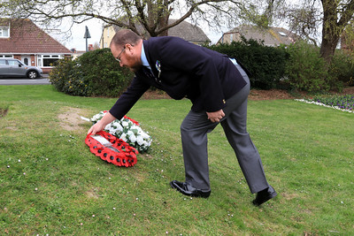 10 APR 2021 - Pictured:  Andy Goodman (Royal Naval Association, Harwich & District Branch. Wreath laying at the Mayor's Garden in memory of His Royal Highness the Prince Philip, Duke of Edinburgh, on behalf of all of the residents of Harwich. - Photo Copyright © Maria Fowler 2021