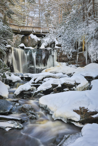 Elakala Falls in Snow and Ice