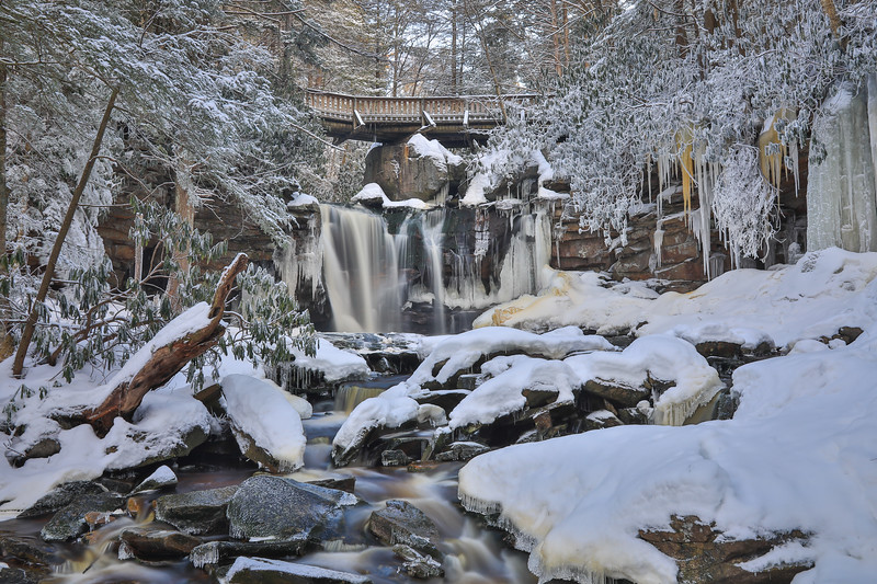 Elakala Falls in Snow and Ice