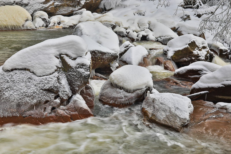 Upper Blackwater River in Snow and Ice