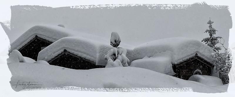 snow roof....