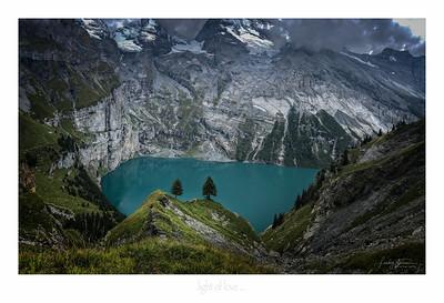 view of love ...  Lake Oeschinen