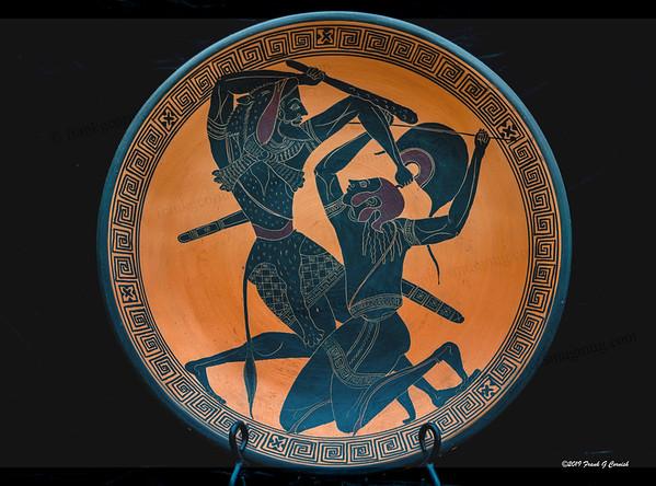 Herakles slays Hippolyte or Penthesilea, the Amazon Queen