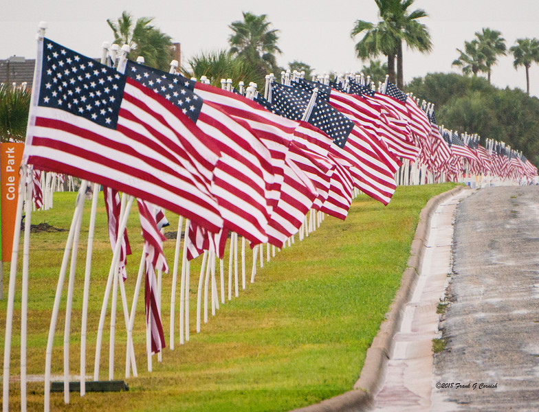 Rotary flags for heroes, Corpus Christi, Tx