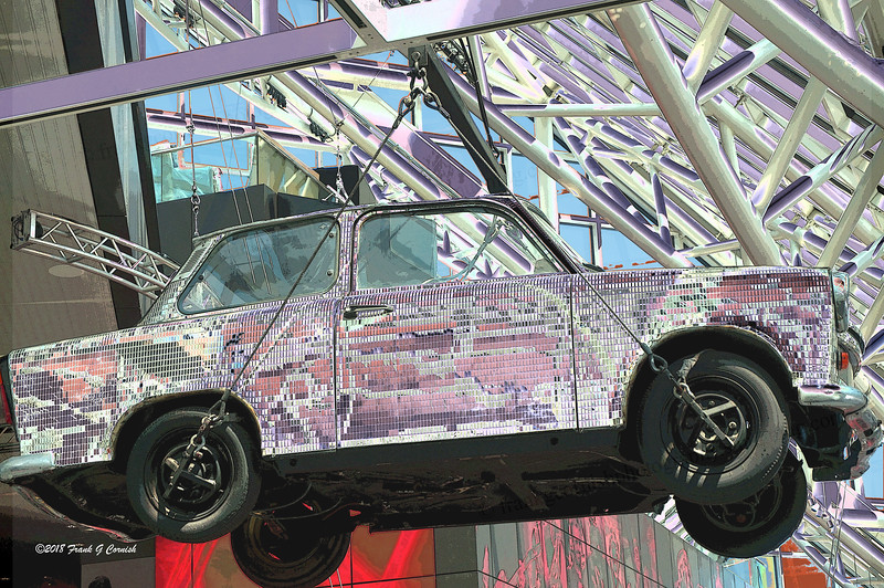 Hanging car at Rock& Roll Hall of Fame, Cleveland, OH
