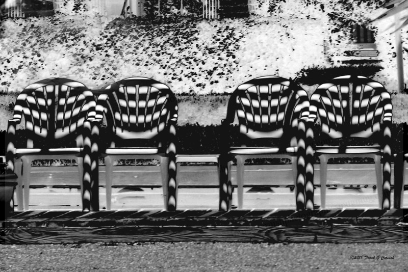 patterned lawn chairs