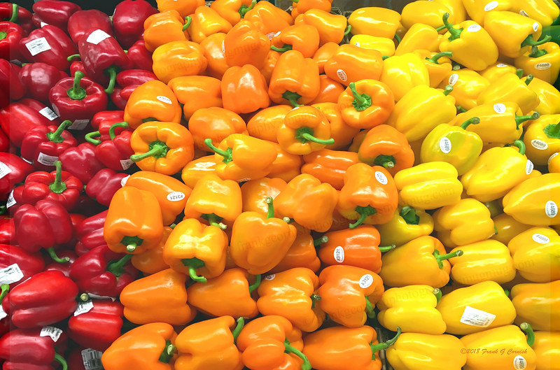 colorful morn at Central Market, bell peppers