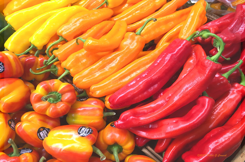 colorful morn at Central Market peppers